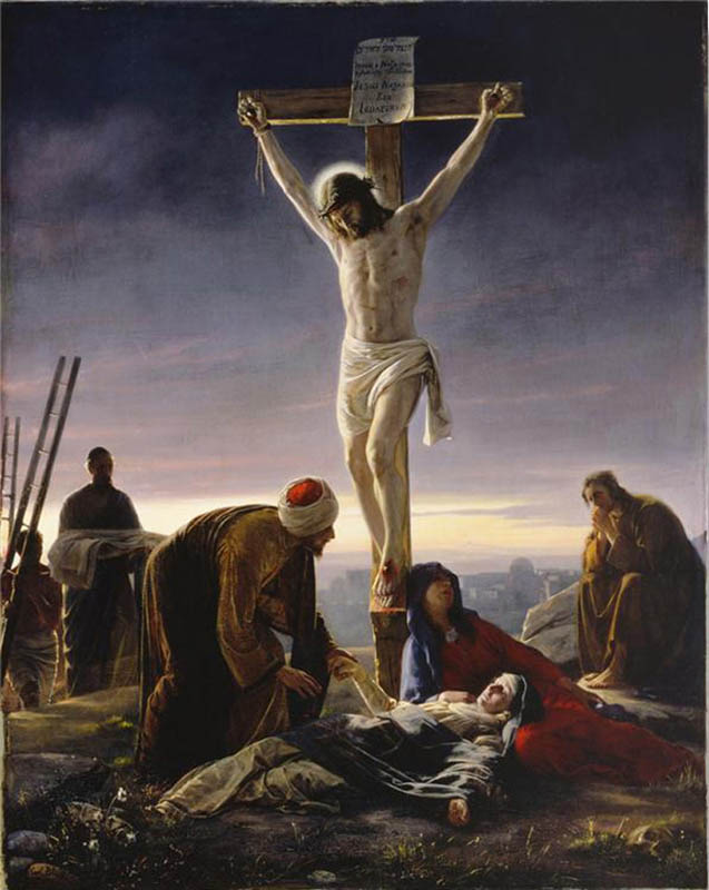 Jesus Christ was then made to carry the cross. He was weak and could ...